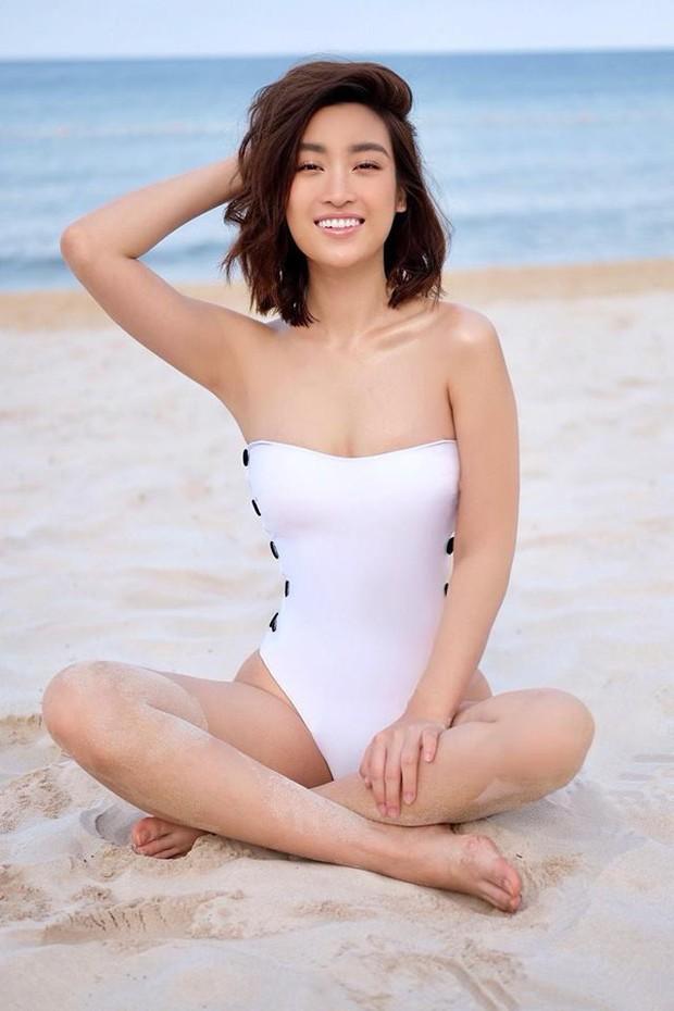 Hiếm khi thấy Đỗ Mỹ Linh diện áo tắm, thân hình gợi cảm chẳng kém cạnh mỹ nhân nào - Ảnh 4.