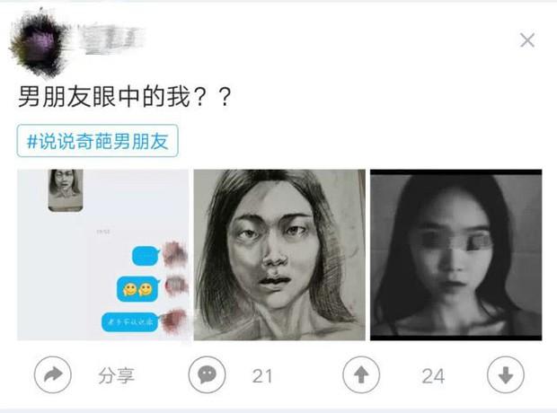 Chàng sinh viên mỹ thuật vẽ tranh tặng bạn gái, vừa nhìn thấy tác phẩm cô đã nổi giận đòi chia tay vì lý do này - Ảnh 1.