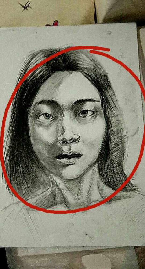 Chàng sinh viên mỹ thuật vẽ tranh tặng bạn gái, vừa nhìn thấy tác phẩm cô đã nổi giận đòi chia tay vì lý do này - Ảnh 3.