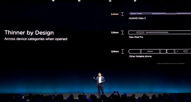 Huawei ra mắt smartphone màn hình gập 5G Mate X: Mỏng hơn cả iPad Pro, sạc nhanh gấp 6 lần iPhone XS Max, giá 2.300 EUR - Ảnh 2.
