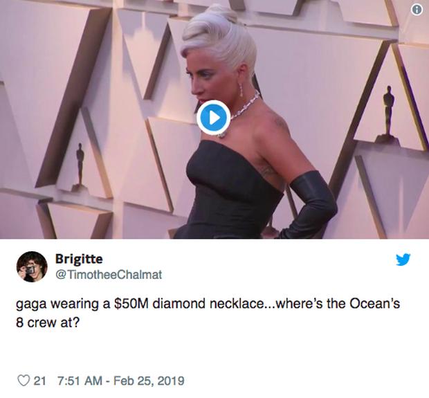 Phát sốt vì vòng kim cương siêu to của Lady Gaga trên thảm đỏ Oscar: Tới cả nghìn tỉ, Audrey Hepburn cũng từng đeo - Ảnh 8.