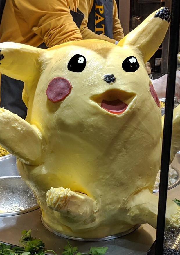 Pikachu làm từ bơ khiến thực khách không thể rời mắt vì vừa dị vừa đáng yêu - Ảnh 9.