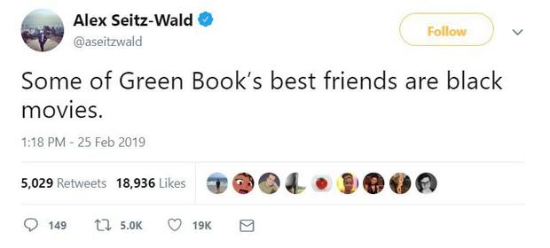 Mạng xã hội lại dậy sóng phẫn nộ vì Green Book thắng ở phút 89 Oscar 2019 - Ảnh 4.