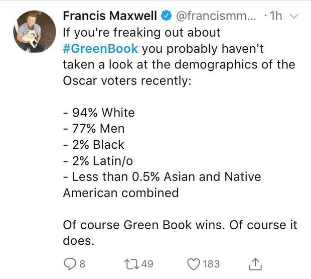 Trao nhiều giải cho người da màu nhưng hóa ra Oscar 2019 vẫn trắng lắm! - Ảnh 6.