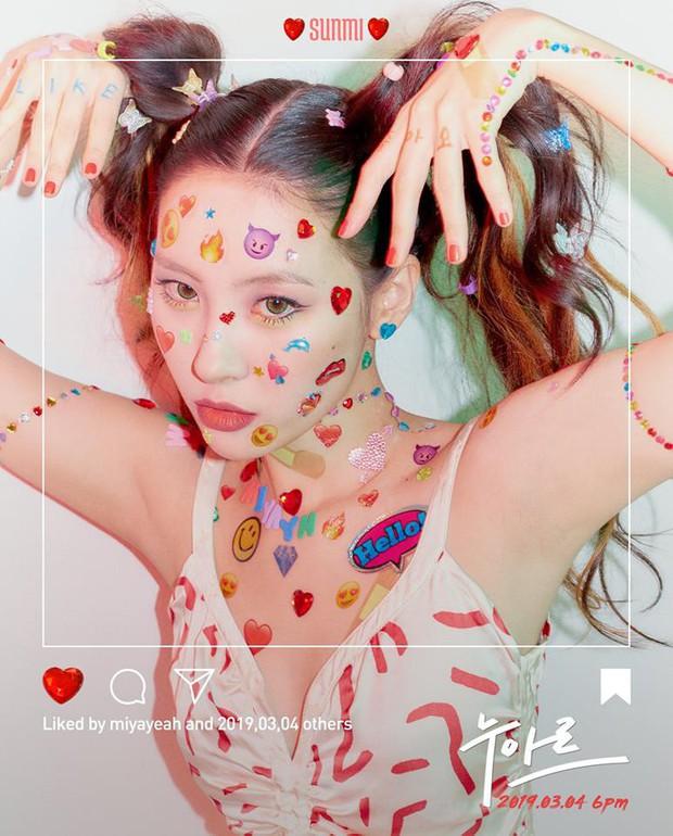 Sunmi khoe hình comeback dán đầy emoji trên mặt nhưng fan yêu điện ảnh lại thấy quen quen - Ảnh 1.