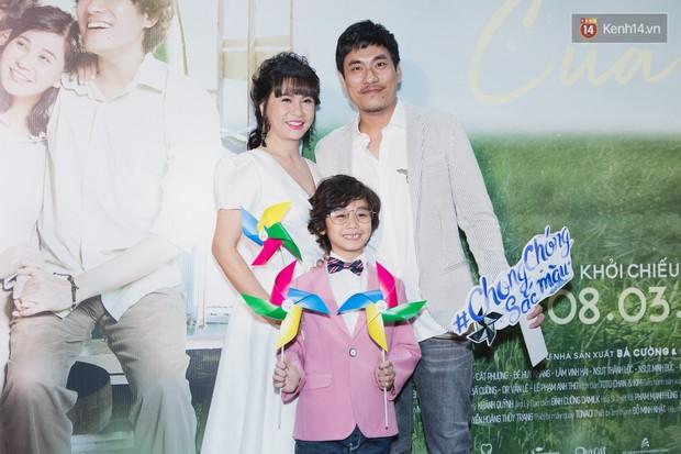 Cát Phượng diện đầm lộng lẫy sánh đôi Kiều Minh Tuấn ra mắt phim Hạnh Phúc Của Mẹ - Ảnh 2.
