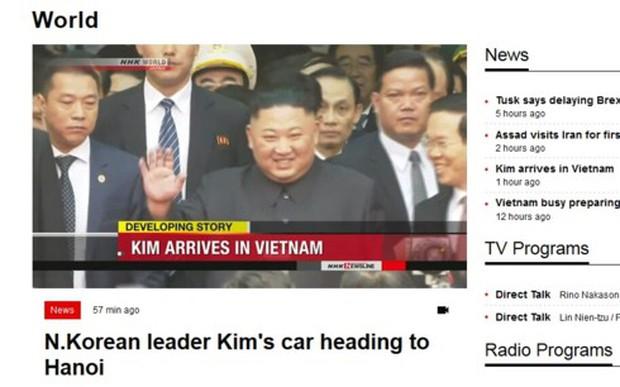 Truyền thông Nhật-Hàn cùng đưa tin ông Kim Jong-un đã tới Việt Nam - Ảnh 1.