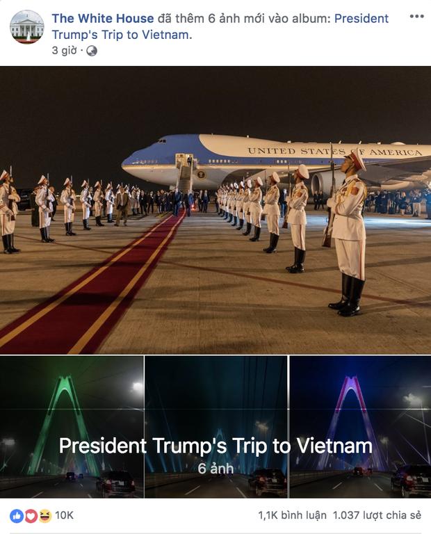 Cầu Nhật Tân xuất hiện trên fanpage của Nhà Trắng sau khi Tổng thống Trump tới Việt Nam - Ảnh 1.