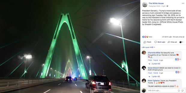 Cầu Nhật Tân xuất hiện trên fanpage của Nhà Trắng sau khi Tổng thống Trump tới Việt Nam - Ảnh 4.