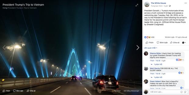 Cầu Nhật Tân xuất hiện trên fanpage của Nhà Trắng sau khi Tổng thống Trump tới Việt Nam - Ảnh 5.