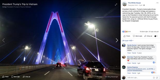 Cầu Nhật Tân xuất hiện trên fanpage của Nhà Trắng sau khi Tổng thống Trump tới Việt Nam - Ảnh 6.