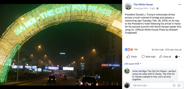 Cầu Nhật Tân xuất hiện trên fanpage của Nhà Trắng sau khi Tổng thống Trump tới Việt Nam - Ảnh 3.