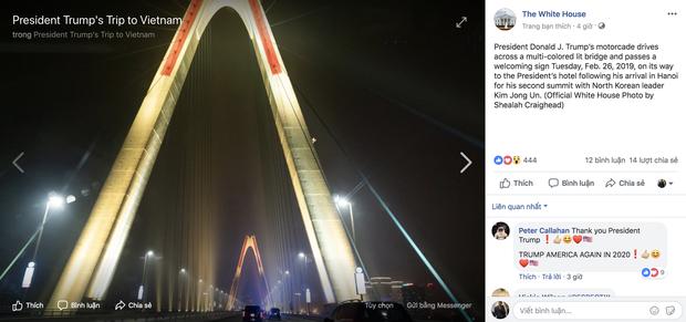 Cầu Nhật Tân xuất hiện trên fanpage của Nhà Trắng sau khi Tổng thống Trump tới Việt Nam - Ảnh 7.