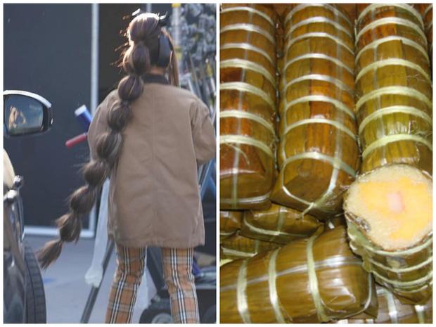 Ariana Grande tung tăng dạo phố với bộ tóc được tạo hình lấy cảm hứng từ đòn bánh tét  - Ảnh 4.