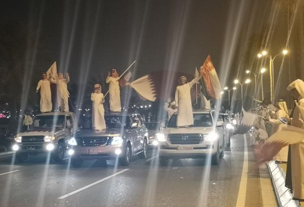 Qatar sáng rực trong đêm, sôi động chưa từng có trong ngày đón những người hùng trở về từ Asian Cup - Ảnh 11.