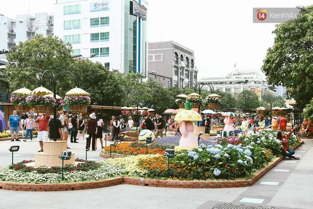 Người Sài Gòn xúng xính áo mới, dạo đường Nguyễn Huệ và hội hoa xuân Tao Đàn chiều 29 Tết Kỷ Hợi - Ảnh 14.