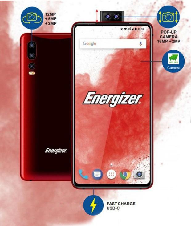 Energizer sẽ ra mắt smartphone có pin 18000mAh, dùng mòn mỏi mới phải cắm sạc - Ảnh 1.