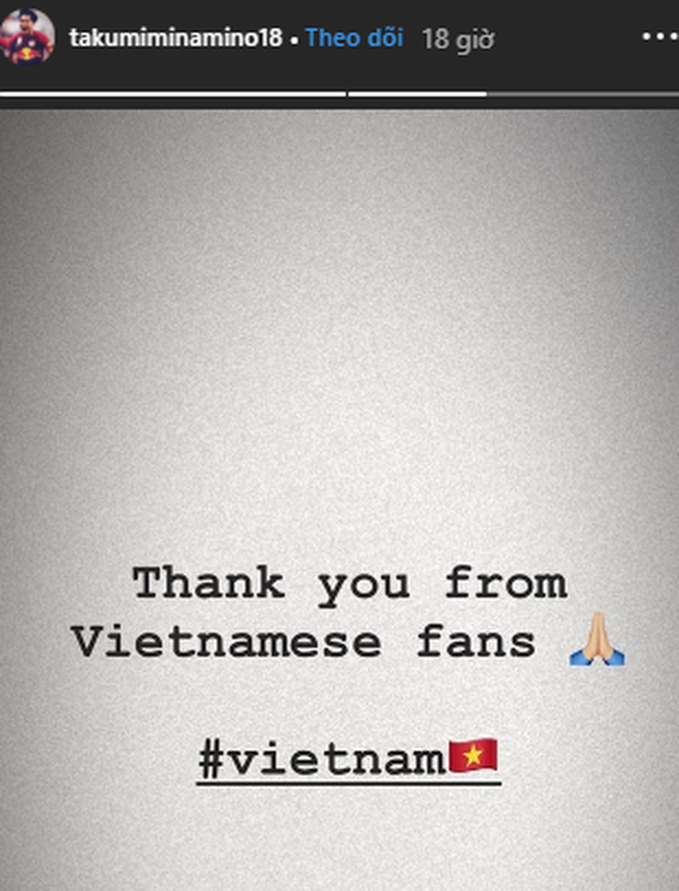 Trai đẹp Minamino Takumi gửi lời cảm ơn fan Việt Nam, khiến ai đọc cũng ấm lòng - Ảnh 1.