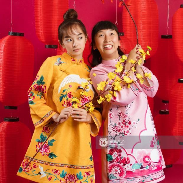 Đầu năm ngồi bày mâm mứt Tết mà cười rụng nụ với đôi bạn Kaity Nguyễn và Trang Hý - Ảnh 6.
