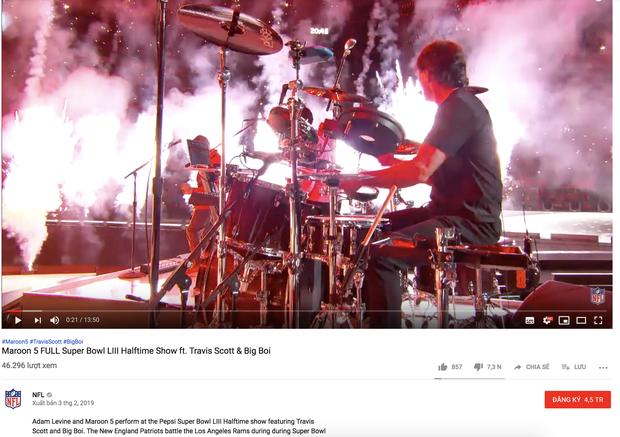 Xui xẻo cho Maroon 5: Clip diễn Super Bowl nhận lượng dislike khủng, lại còn bị gỡ khỏi Youtube - Ảnh 3.
