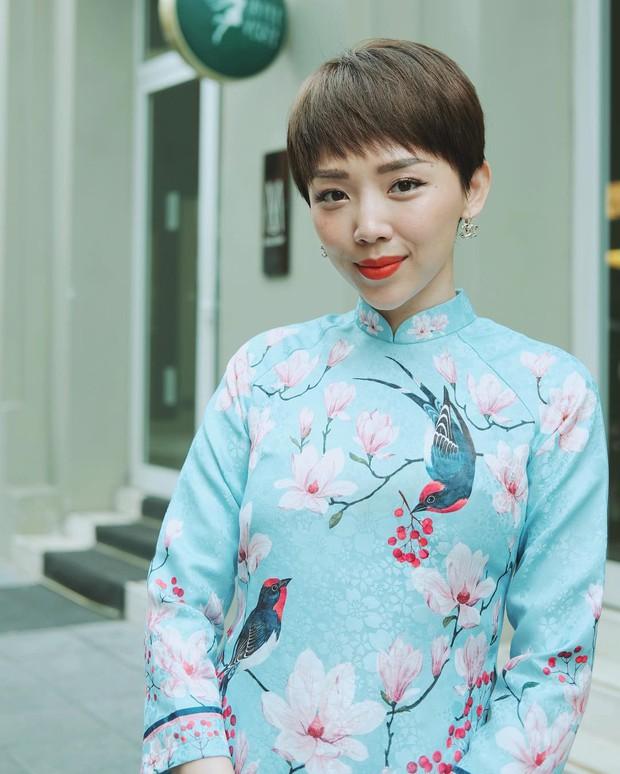 Đã thành thói quen, cứ mùng 1 Tết là từ sao tới hot girl Việt lại diện áo dài tưng bừng - Ảnh 6.