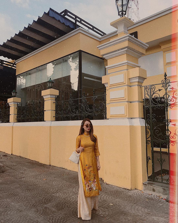 Đã thành thói quen, cứ mùng 1 Tết là từ sao tới hot girl Việt lại diện áo dài tưng bừng - Ảnh 4.