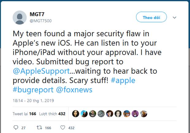 Apple trao thưởng cho cậu bé phát hiện ra lỗ hổng nghe lén bằng FaceTime - Ảnh 2.