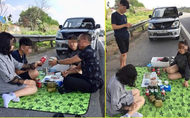 Người livestream cảnh gia đình ăn nhậu trên cao tốc Nội Bài - Lào Cai trưa mùng 2 Tết xin lỗi - Ảnh 1.