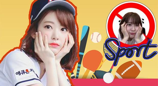 Sakura (IZ*ONE) và thể thao dường như có thù với nhau! - Ảnh 1.