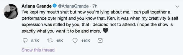 Không khí trước giờ G album thank u, next quá nóng: Ariana tố BTC Grammy dối trá về sự xuất hiện của mình - Ảnh 2.