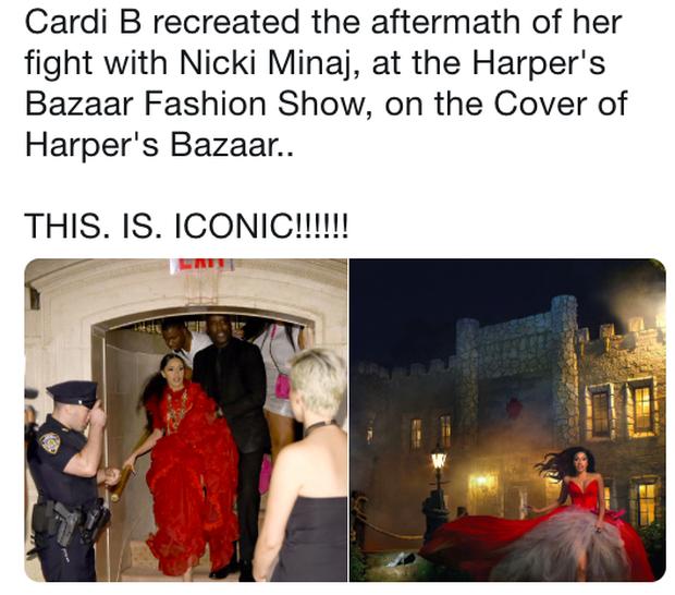 Cực gắt: Cardi B được dân tình tung hô vì nhắc đểu vụ đánh nhau với Nicki Minaj bằng cách siêu chất - Ảnh 3.