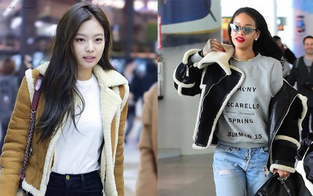 Dù chẳng thân thiết nhưng thi thoảng, style của Jennie và Rihanna cũng có chút tương đồng nhẹ - Ảnh 3.