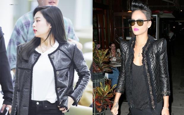 Dù chẳng thân thiết nhưng thi thoảng, style của Jennie và Rihanna cũng có chút tương đồng nhẹ - Ảnh 4.