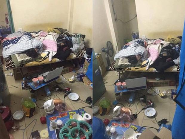 Khiếp hãi với những phòng ký túc bẩn thỉu bừa bộn của sinh viên: Ăn chung, ngủ chung với rác! - Ảnh 13.