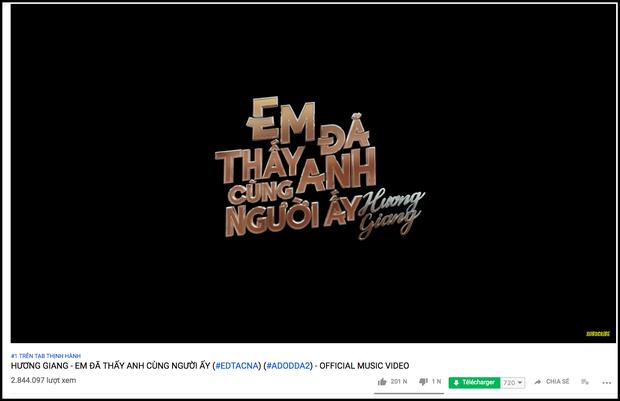 Sau nửa ngày ra mắt, ADODDA 2 của Hương Giang phá kỷ lục phần 1, leo thẳng Top 1 Trending Youtube - Ảnh 1.