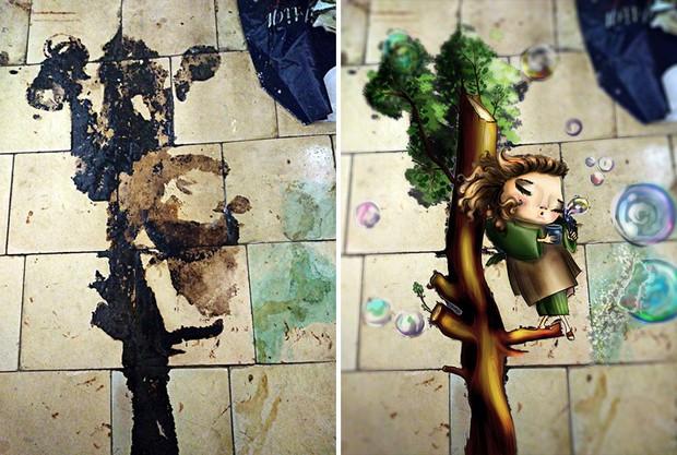 Trải qua ảo giác khuôn mặt Pareidolia ở mọi nơi, họa sĩ Nga bèn vẽ lại cho mọi người cùng xem - Ảnh 2.
