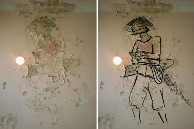 Trải qua ảo giác khuôn mặt Pareidolia ở mọi nơi, họa sĩ Nga bèn vẽ lại cho mọi người cùng xem - Ảnh 7.