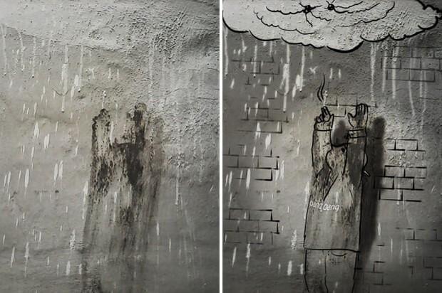 Trải qua ảo giác khuôn mặt Pareidolia ở mọi nơi, họa sĩ Nga bèn vẽ lại cho mọi người cùng xem - Ảnh 15.