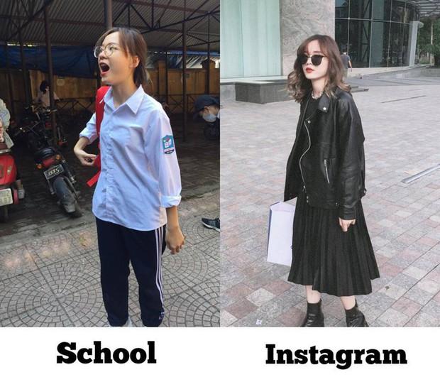 Con gái lúc đi chơi và khi đi học: Ảo thôi đừng ảo quá! - Ảnh 1.