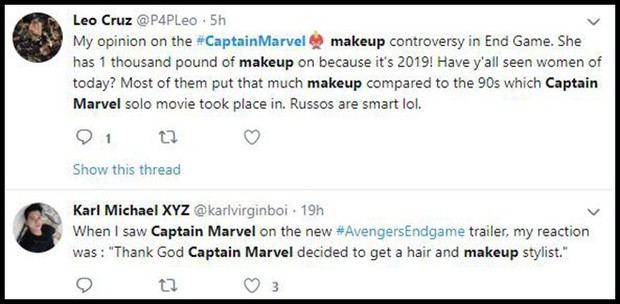 Trailer Endgame khiến fan Avengers tranh cãi kịch liệt vì lớp trang điểm đậm của chị đại Captain Marvel - Ảnh 9.