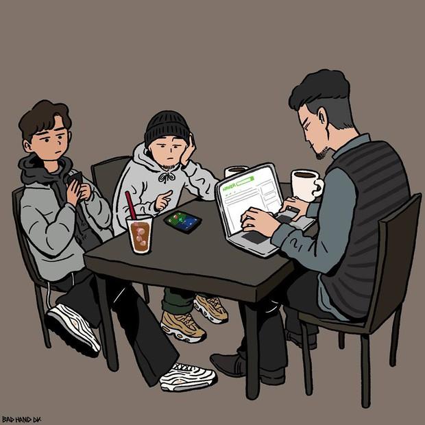 Họa sĩ Hàn Quốc tái hiện scandal chấn động của Seungri bằng bức tranh đầy ám ảnh - Ảnh 5.
