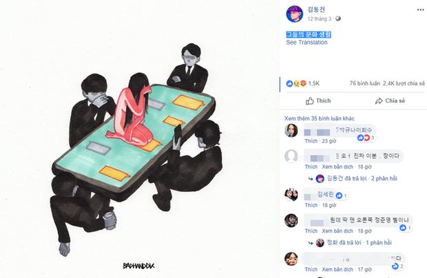Họa sĩ Hàn Quốc tái hiện scandal chấn động của Seungri bằng bức tranh đầy ám ảnh - Ảnh 2.