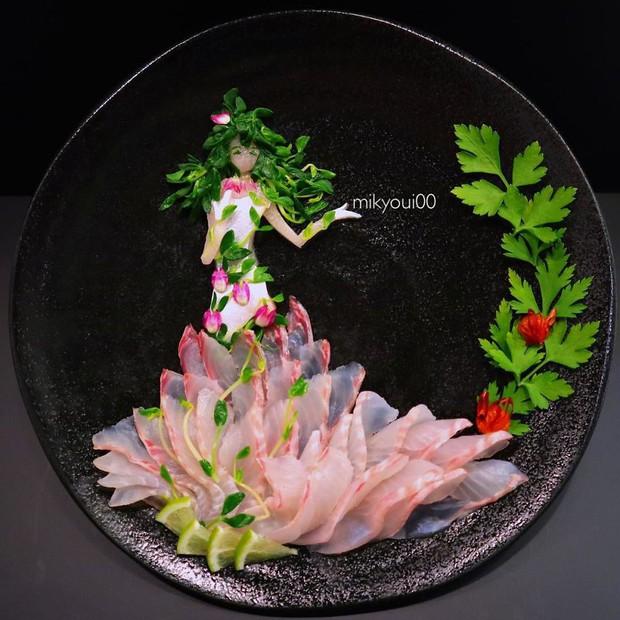 Chỉ xem Youtube, ông bố Nhật đã tạo ra những tác phẩm nghệ thuật đáng kinh ngạc từ cá sống - Ảnh 6.