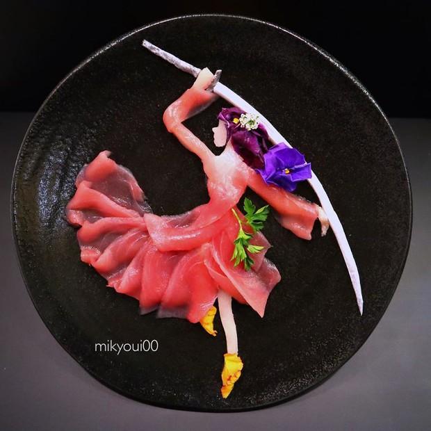 Chỉ xem Youtube, ông bố Nhật đã tạo ra những tác phẩm nghệ thuật đáng kinh ngạc từ cá sống - Ảnh 12.