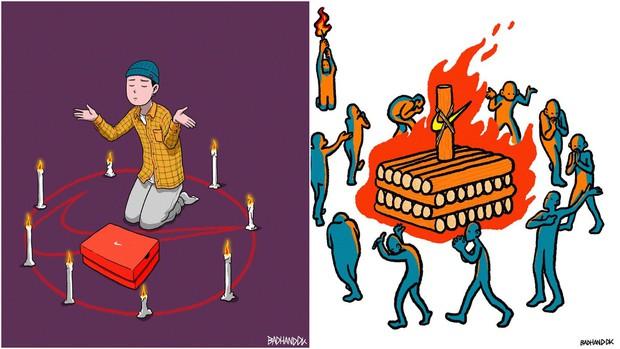 Họa sĩ Hàn Quốc tái hiện scandal chấn động của Seungri bằng bức tranh đầy ám ảnh - Ảnh 6.