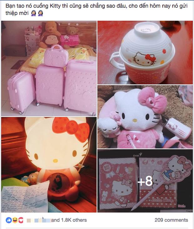 Mong quý khách tặng quà Hello Kitty thay cho phong bì - dòng ghi trên thiệp cưới của cô gái cuồng Mèo hồng khiến dân mạng cười nghiêng ngả - Ảnh 1.