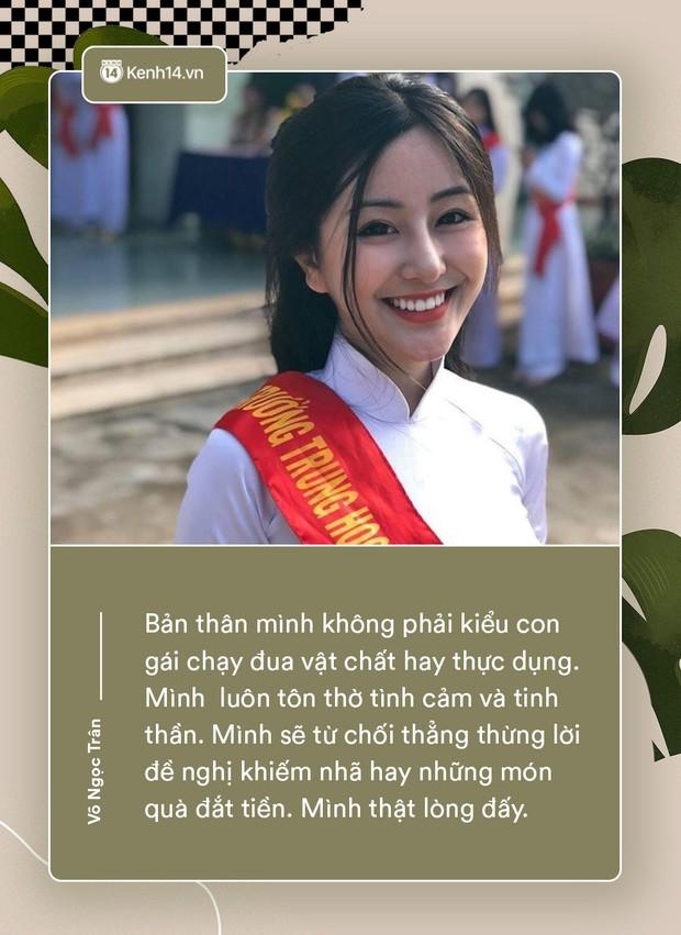 Võ Ngọc Trân - nữ sinh cấp 3 đang hot nhất Sài Gòn: Không cần người đẹp trai và quá giàu có, vì mình có thể kiếm được tiền - Ảnh 3.