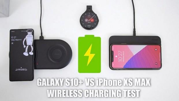 Test sạc không dây của Galaxy S10+ và iPhone XS Max - Ảnh 1.