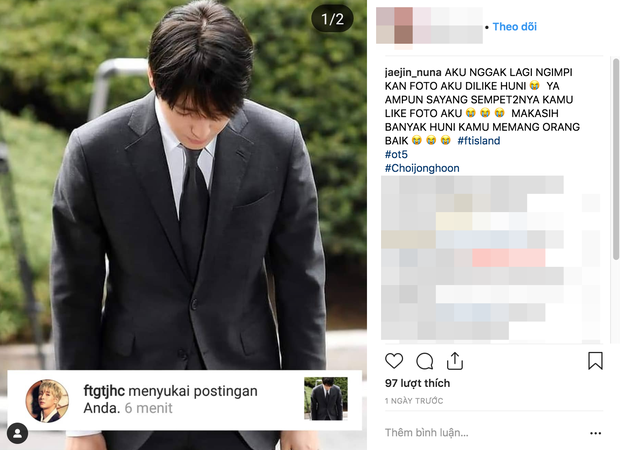 Sau 21 tiếng bị thẩm vấn, Choi Jong Hoon vẫn thản nhiên like dạo trên instagram như chưa từng có bê bối xảy ra - Ảnh 5.