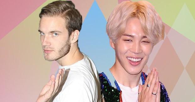 Ông hoàng YouTube PewDiePie công khai là fan BTS, phát cuồng với má lúm đồng tiền của Jimin - Ảnh 1.